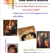 """Due Giorni Biblica: """"LA VITA DELL'UNO È LEGATA ALLA VITA DELL'ALTRO"""""""
