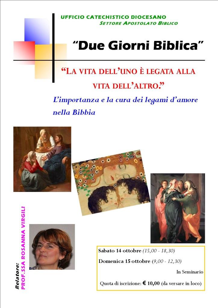 Due Giorni Biblica 2017_Locandina